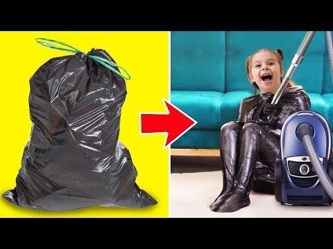 Baju daur ulang dari plastik.