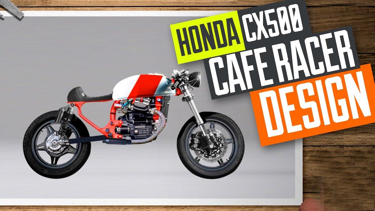 Honda CX500 Cafe Racer build 3 designing the bike