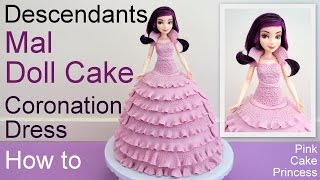 Halloween Descendants Mal Doll Cake How to by Pink Cake Princess