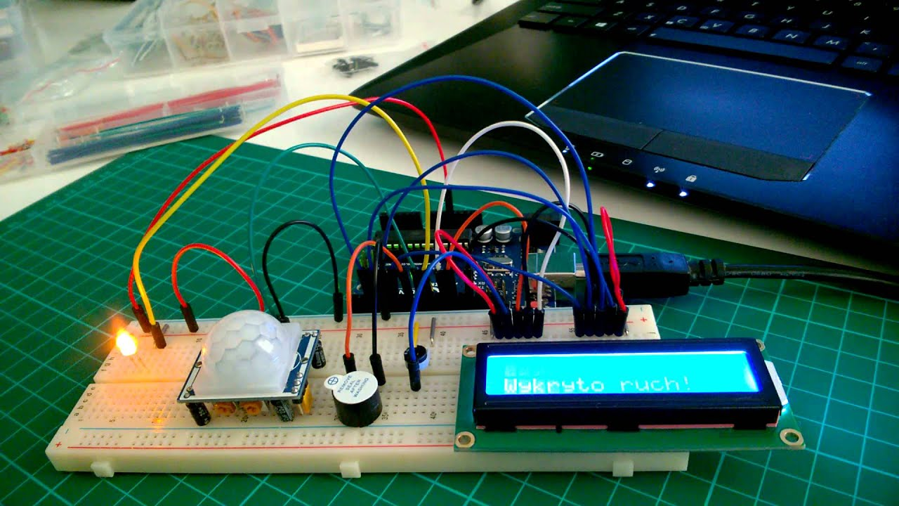 Arduino motion sensor alarm with LCD