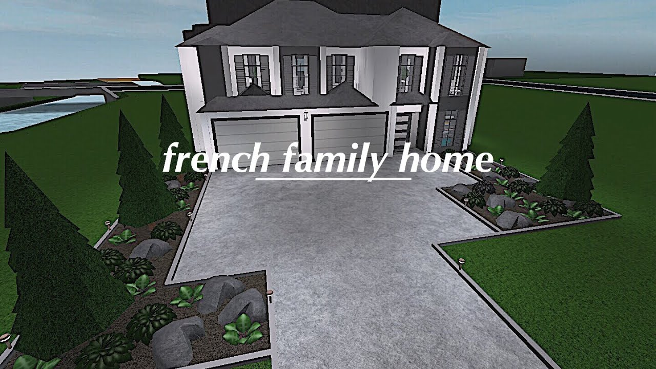 Roblox welcome to bloxburg french family home 80k