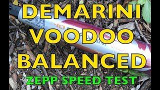 2018 DeMarini Voodoo Balanced USA Baseball Bat Zepp Speed Test Review