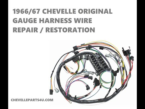 1966 Chevelle Dash Wiring Harness With Gauges Repair Video