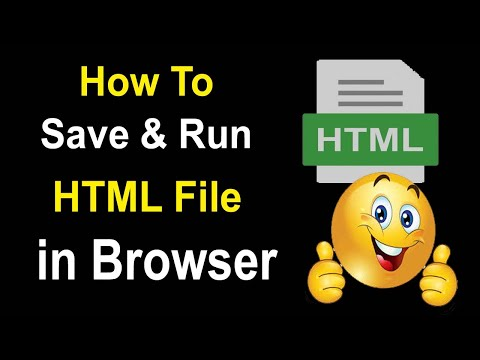How To Run & Open HTML File In Browser | How To Open Html Code In Browser |html File Kaise Open Kare