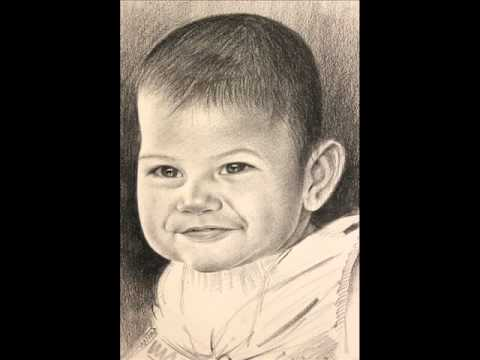 Pencil drawing baby face by artist alamgir youtube
