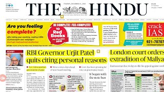 THE HINDU NEWSPAPER 11th December 2018 Complete Analysis