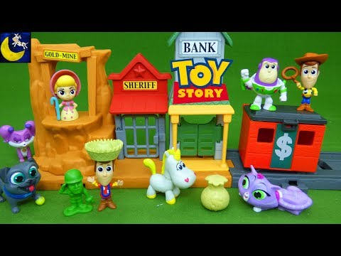 Toy Story 3 Toys Mini Playset Surprise Blind Bags Woody and Buzz Andy's Room Adventure Bo Peep Toys