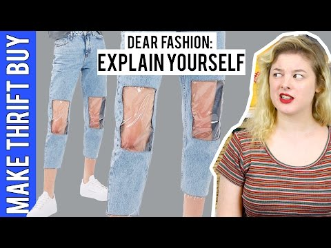 """""""Clear Knee Mom Jeans"""" 
