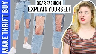 clear knee mom jeans   make thrift buy 52