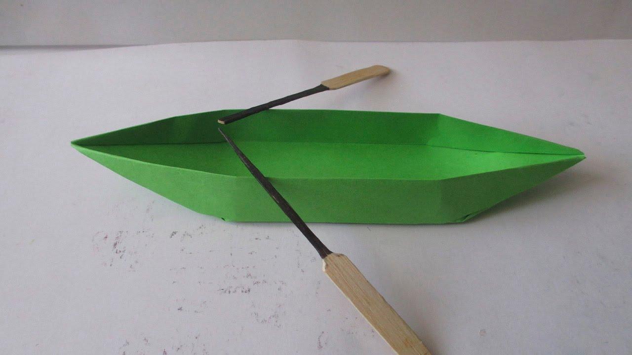 Como Hacer una Canoa Lancha o kayac de Papel - YouTube
