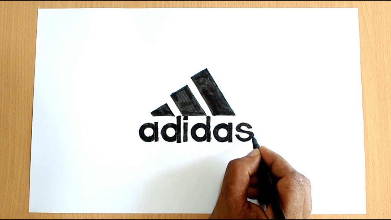 How To Draw The Adidas Logo Youtube