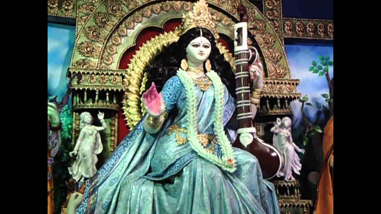 saraswati puja magra festivals india part youtube