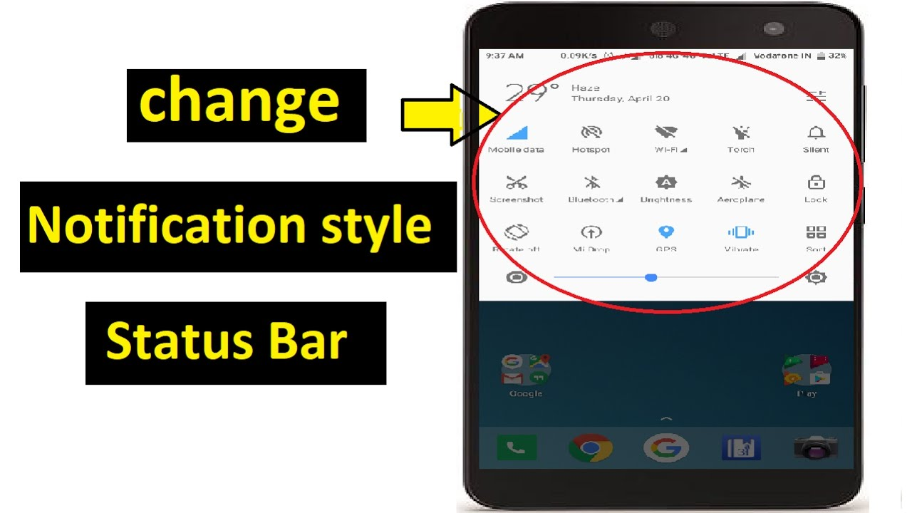 How To Change Notification Bar Style And Colour   Redmi Mobile !! Hindi