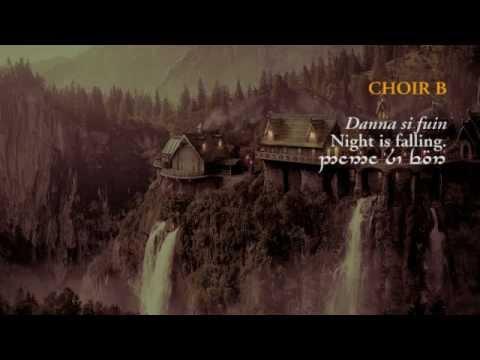 Gilraen's Memorial (with Sindarin lyrics in Tengwar script) - Lord of the Rings FoTR Mp3