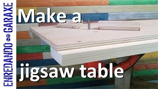 How to make a jigsaw table