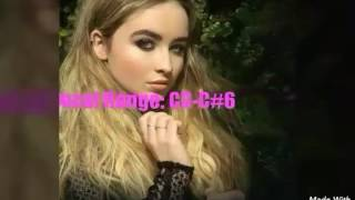 Sabrina Carpenter Vocal Range UPDATED:C3-A5-C#6