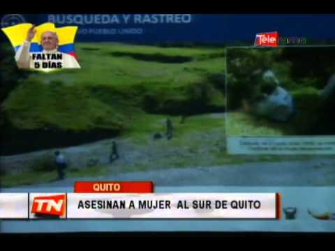 Asesinan a mujer al sur de Quito