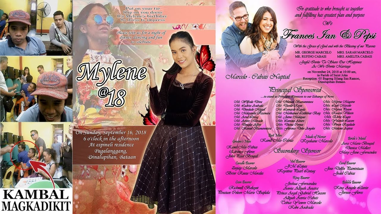 Wedding Invitation Layout I 18th Birthday PSD Below