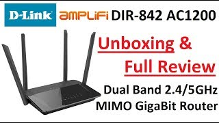 Unboxing amp Review 4K D-Link Amplifi AC1200 Dual Band 2 4 5 GHz Wi-Fi Gigabit Router DIR-842