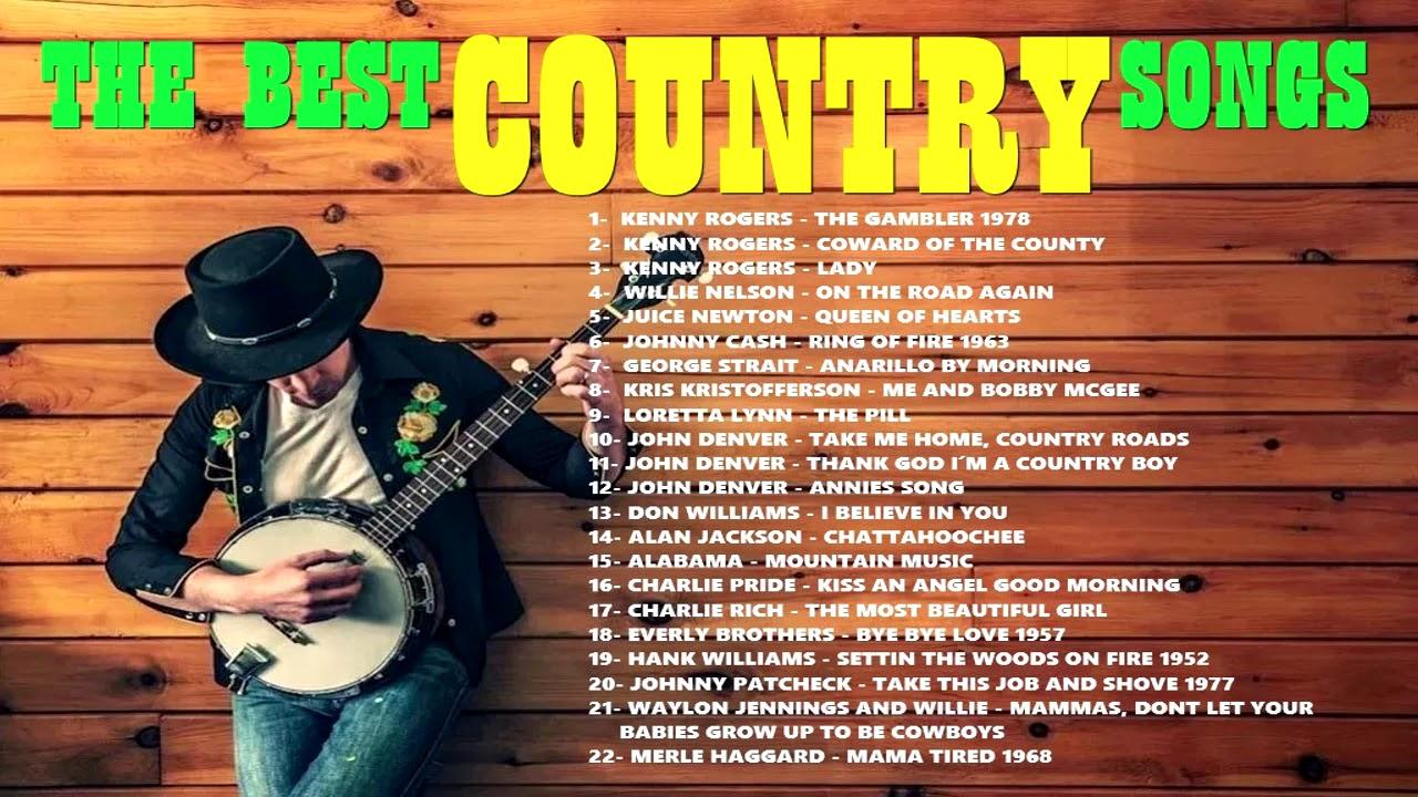Música Country Kenny Rogers Willie Nelson John Denver Don Williams Loretta Lynn éxitos Lo Mejor Youtube