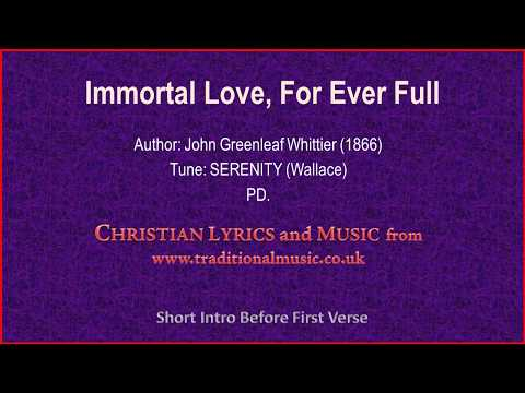 Immortal Love, For Ever Full(MP328) -  Old Hymn Lyrics & Music
