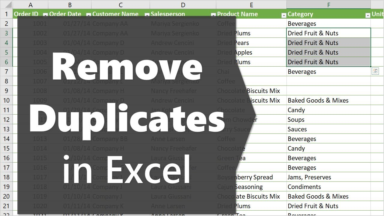 3 Ways to Remove Duplicates to Create a List of Unique