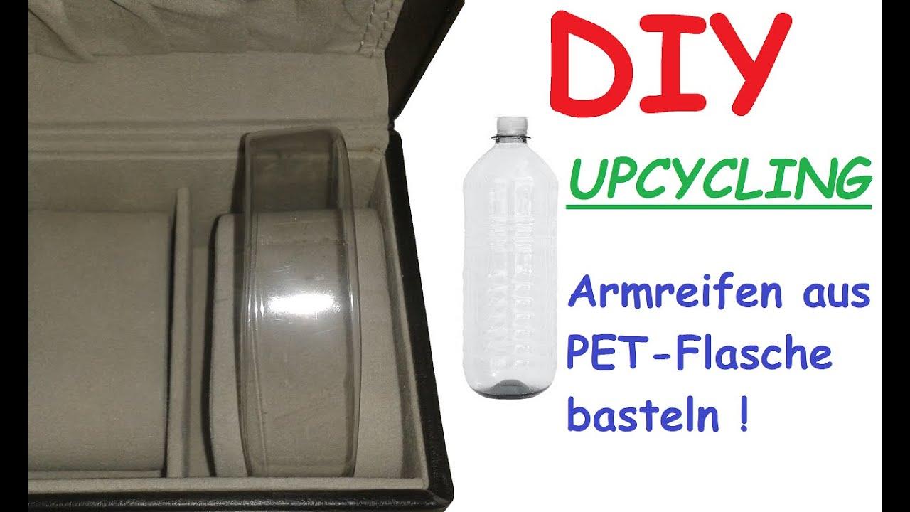 diy armband aus pet flasche selber machen plastik flaschen upcycling amreifen schmuck. Black Bedroom Furniture Sets. Home Design Ideas