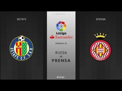 Rueda de prensa Getafe vs Girona