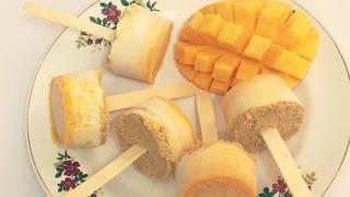 Mango Yogurt & cream Summer popsicles