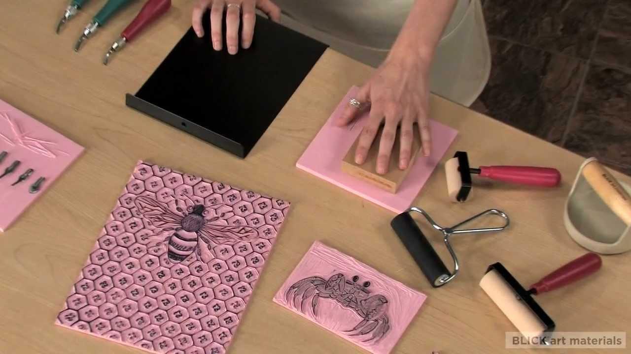 Linoleum block printing getting started youtube