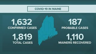 Maine CDC COVID-19 outbreak numbers for 05/20/20