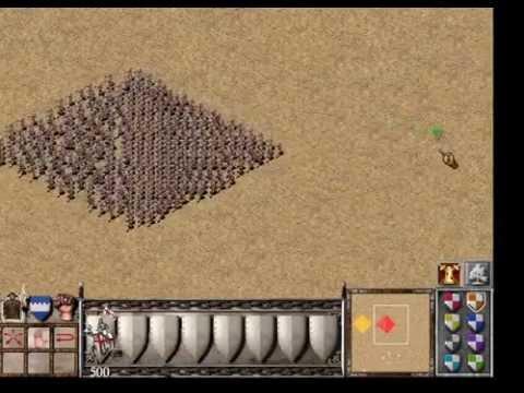 Stronghold Crusader 1000 Pikeman vs 1000 Knights