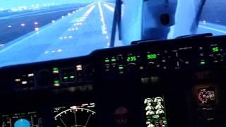 Ан-148В Автоматическая посадка в Пулково на RW10R 2/04/15