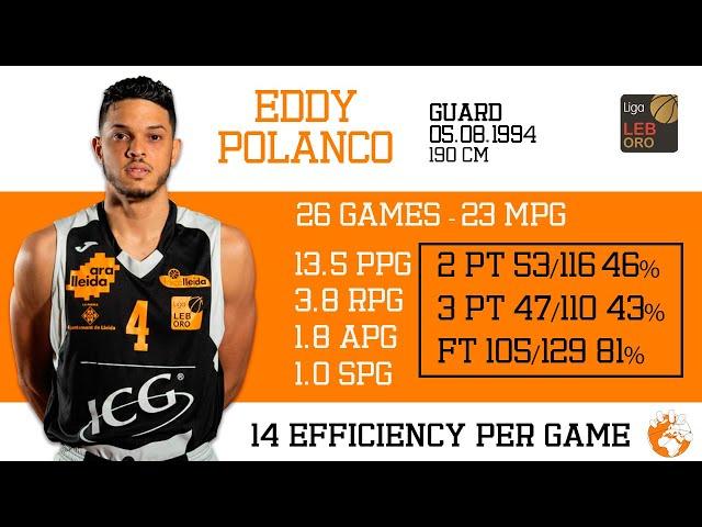 Eddy Polanco 2020-21 LEB Oro Força Lleida Highlights