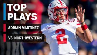 Top Plays: Adrian Martinez Highlights vs. Northwestern Wildcats | Nebraska | Big Ten Football