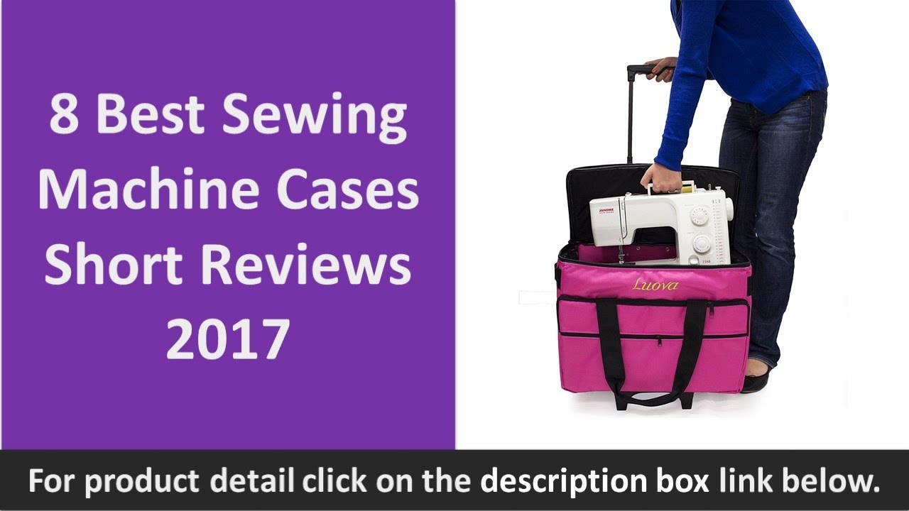 8 Best Sewing Machine Cases Short Reviews 2017 Rolling S Book Tote