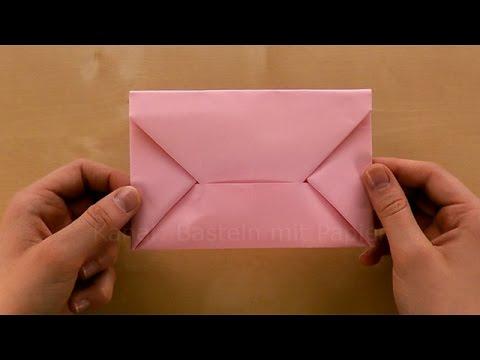 Origami Brief Briefumschlag falten Din A4  Kuvert selber basteln mit Papier  DIY  Best of Utube