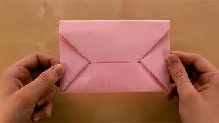 Origami Brief: Briefumschlag falten Din A4 - Kuvert selber basteln mit Papier - DIY