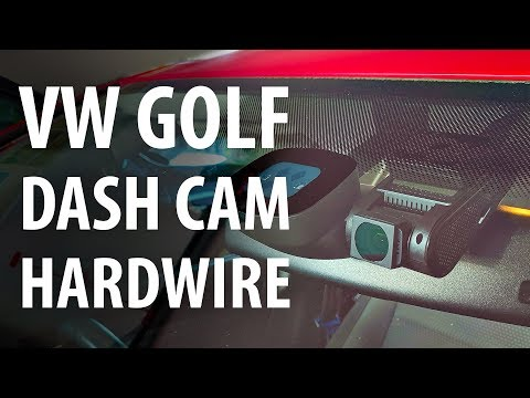 How to: Hardwire install dash cam (VW Golf) or: access fuse box, A pillar, & courtesy light