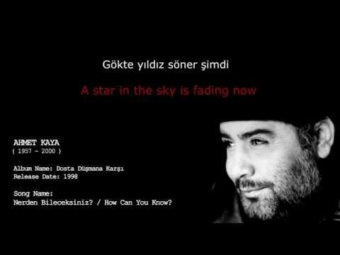 Ahmet Kaya  How Can You Know?  Nereden Bileceksiniz Lyrics with English Subtitles
