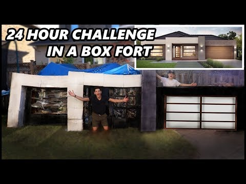 24 HOUR CHALLENGE IN THE WORLD'S BIGGEST BOX HOUSE