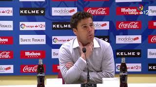 Rueda de prensa de Rubi tras el Rayo Vallecano vs SD Huesca (3-0)