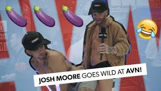 Gay Pornstar Josh Moore Goes Wild With CAM4 At AVN!