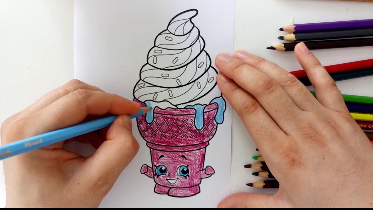Cicibiciler Boyama Serisi Dondurma Boyama Oyunu Youtube