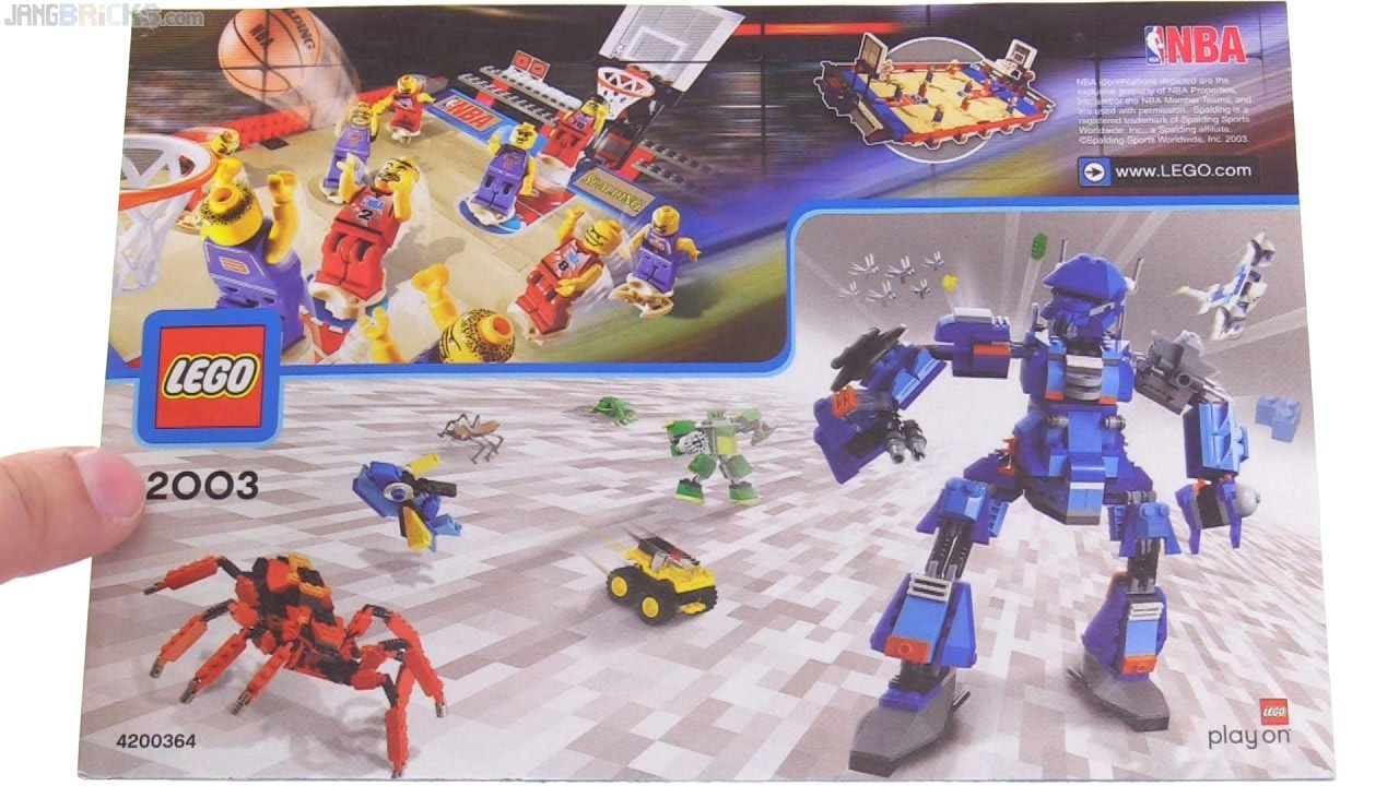 A look through a LEGO catalog from 2003