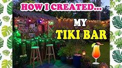 DIY TIKI BAR UK! 🍹How I Customised My Bar 🌺🍍🍹🌴☀️