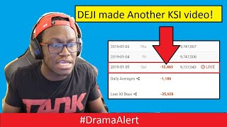 Deji Loses over 10K subs in 2 hours! #DramaAlert KSI vs DEJI!