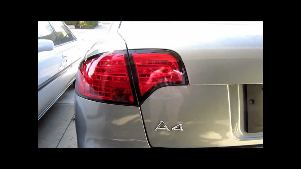 Audi A4 S4 Rs4 B7 All Red Led Tail Lights 05 08 Youtube