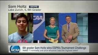 Sixth Grader Wins ESPN's Tournament Challenge - SportsCenter (04-07-2015)