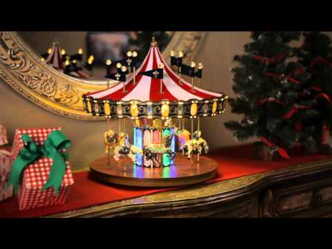 Mr. Christmas Flag Carousel with Lights and Music with Rick Domeier